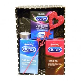 Caja regalo novio preservativos y anillo placer