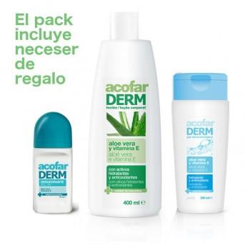 Acofarderm Pack Ahorro Aloe Gel + loción + desodorante + neceser de regalo