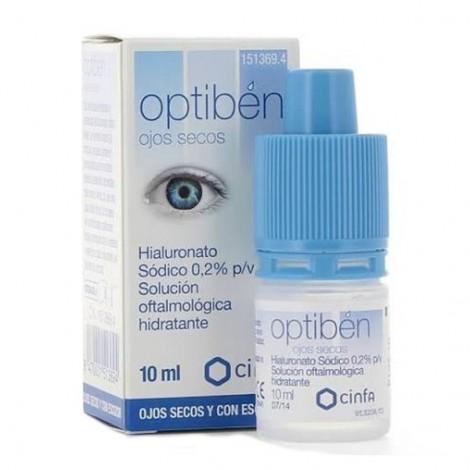 Optibén solución oftalmológica hidratante ojos secos