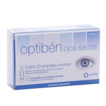 Optibén colirio ojos secos 20 ampollas unidosis