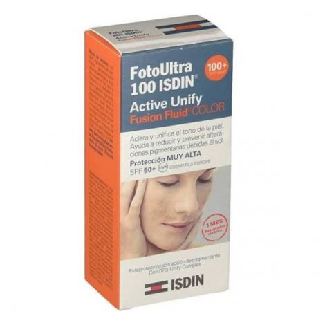 Fotoprotector Isdin Active unify fusion fluid color 100+ 50 ml