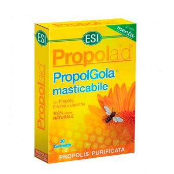 Propolaid Propolgola masticable 30 tabletas sabor menta