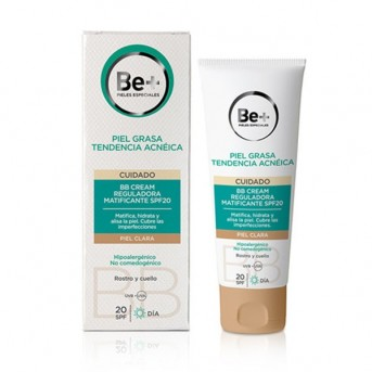 Be+ Piel grasa BB cream reguladora  matificante piel clara