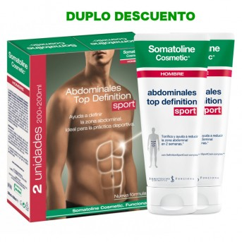 Somatoline Cosmetic Hombre Abdominales Top Definition sport 2x200 ml