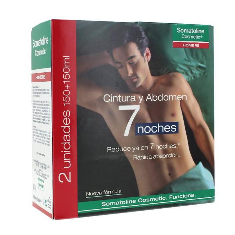 Somatoline Cosmetic Hombre Cintura y Abdomen 7 noches 2 x 150 ml