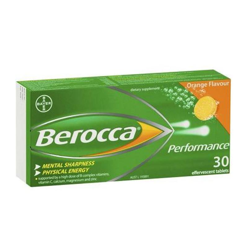 Berocca performance 30 cp efervescentes sabor naranja