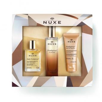 Nuxe Coffret Navidad el Acorde Prodigieux Parfum Huile y Huile de douche