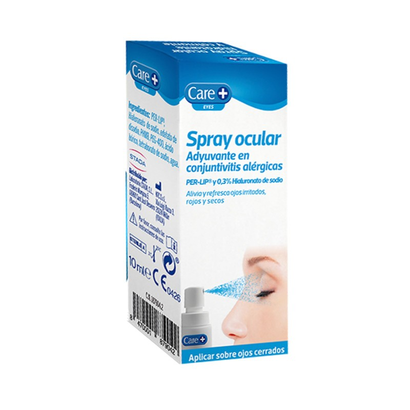 Spray ocular Care+ Adyuvante en conjuntivitis alérgicas