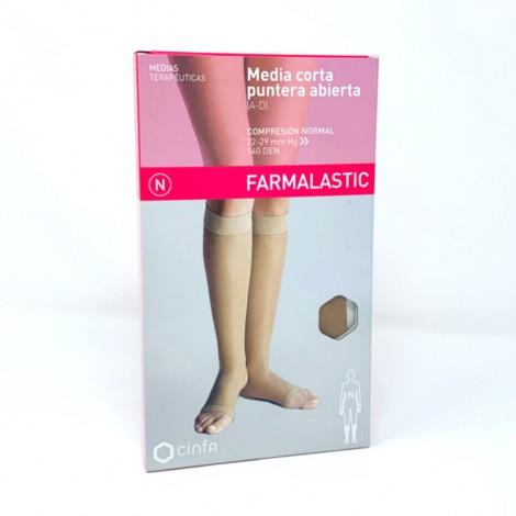 Farmalastic Media Corta puntera abierta Compresión normal