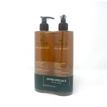 Nuxe Reve de miel Gel lavante cara y cuerpo pack 2x400 ml