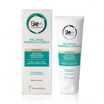 Be+ piel grasa emulsion reguladora matificante