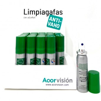 Acorvision limpia gafas anti vaho spray