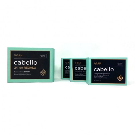 Pack Goah Cabello 2+1 regalo 3x60 cápsulas
