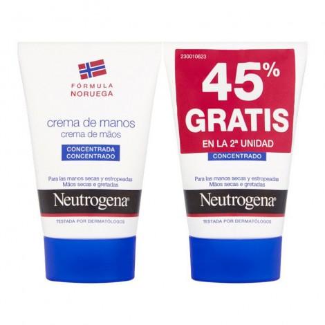 Duplo Neutrogena crema de manos concentrada 50 ml + 50 ml