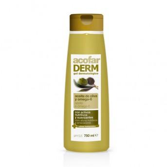 Acofar derm gel dermatológico aceite de oliva y omega-6 750 ml