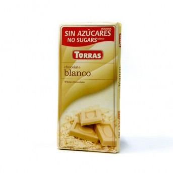Chocolate blanco sin azúcar Torras