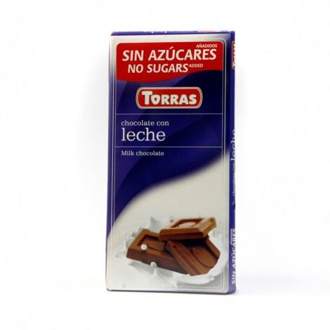 Chocolate con leche sin azúcar Torras