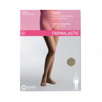 Farmalastic panty-media hasta la cintura (E-T) compresión normal
