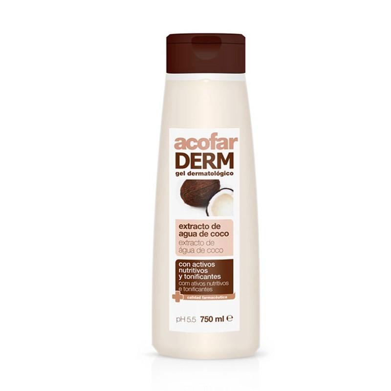 Acofarderm Gel dermatológico de extracto de agua de coco 750ml