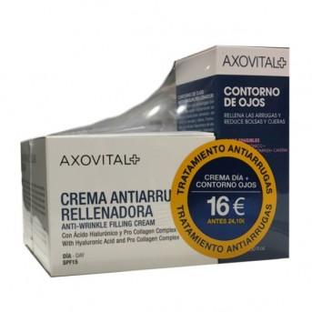 Axovital tratamiento antiarrugas crema día + contorno de ojos